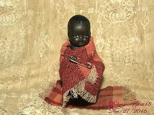 ANTIQUE BLACK AMERICANA MINIATURE BOY BISQUE DOUBLE JOINTED 4.5'' DOLL