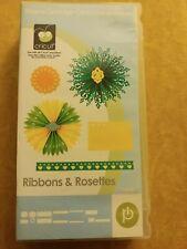 Cricut Ribbons And Rosettes Shapes Art Cartridge EUC (linked) w/Box Book Overlay