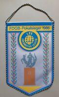 Orig. DDR Wimpel 1.FC Lok Leipzig FDGB Pokalsieger 1986 DDR Oberliga Fussball
