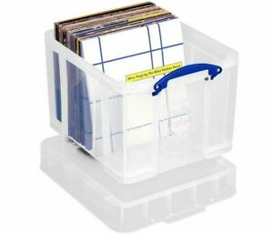 """PACK OF 10 - Really Useful Boxes 35XL Litre Vinyl 12"""" LP Records Storage Box"""