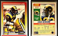 Vince Newsome Signed 1990 Score #222 Card Los Angeles Rams Auto Autograph