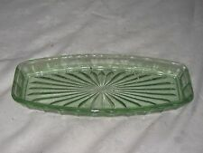 A Vintage Depression Style Green Glass Art Deco Styled Rectangular Tray