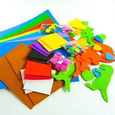 72 Kid/'s Craft Asst Self Adhesive Printed Christmas Foam Shapes 10-50mm Dia New