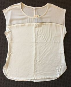 Valleygirl Zipper Trim Top - Size Small - New With Tags