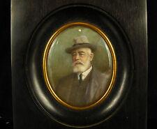 Homme au chapeau miniature XIX e Man with Hat XIX th