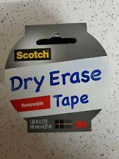 """Scotch Dry EraseTape 1.88"""" x 5 yds. (1905R-DE-WHT)"""