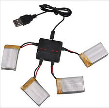 Usb Charger 1 To 4 for 4 Battery Syma X5c X5sc X5a H5c Lipo 3 7V 500 MAh DH19