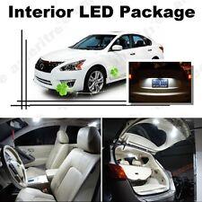 For Nissan Altima Sedan 2013 up White LED Interior kit + White License Light LED