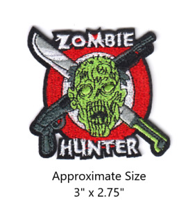 Zombie Hunter Embroidered Iron and/or Sew-On Patch