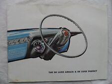 1958 FORD ANGLIA DE LUXE & DE LUXE PREFECT Sales Brochure