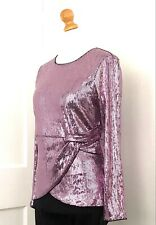 I.N.C. by Macy's Sequined Pink Mock-wrap Holiday Top Size L