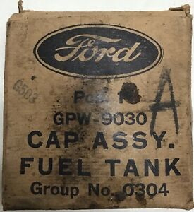WW2 Jeep Ford GPW Fuel Cap Small Mouth GPW-9030 N.O.S W/ Packaging