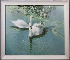 Vintage Vernon Ward Swan Print Harmony Of Spring Excellent Condition