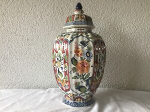FREE SHIPMENT Antique ceramic MAKKUM VASE Altena & Krooyenga Delft Holland 306