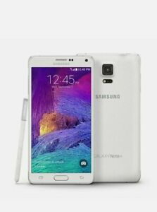 SAMSUNG GALAXY NOTE 4 N910F 32GB Note4 - Unlocked - Android Mobile Phone - White