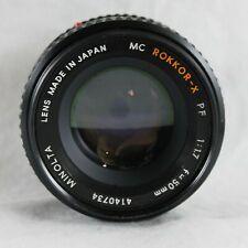 Minolta MC PF Rokkor-X 50mm 1.7 Prime Lens 4140734