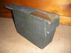 Vintage Handmade Wooden AMMO BOX / WW 1 Style Box