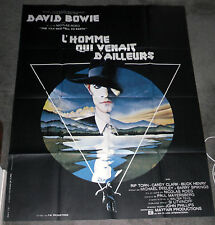 The Man Who Fell To Earth original large Rare movie poster David Bowie 47x63