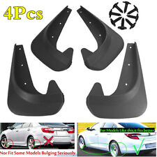 4Pcs Car Front Rear Fender Protect Mudguard EVA Plastic Mud Flaps Splash Guard