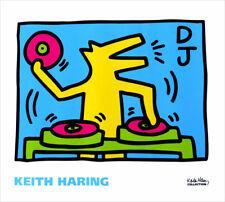 Keith Haring DJ Turntable Dog Poster Print Art 24 x 28