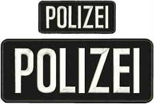 Polizei embroidery patch 4x10 and 2x5 hook on back