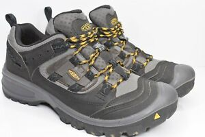 Keen Mens American Built F2892-11 Gray Black Hiking Shoes Lace Up Size 8.5 D