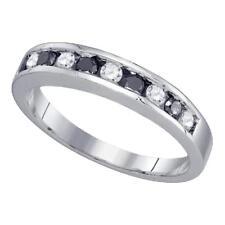 0.50 CTWBlack Color Diamond Ring 10KT White Gold - REF-26F9N Lot 3438