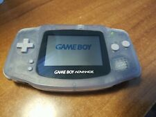Nintendo Game Boy Advance GBA Handheld System - Glacier Clear Blue *TESTED*