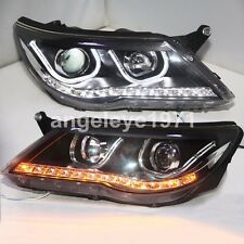 2009-2011 Year For VW Tiguan LED Front Lights U Style LED Angel eyes Lamps TLZ