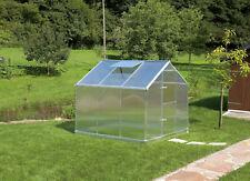 Gutta Aluminium Gewächshaus 5,18 m² Typ F3 mit 6 mm Polycarbonat Stegplatten