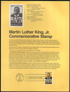 US. SP461. 1771. Martin Luther King, Jr. Black Heritage. Souvenir Pages.1979