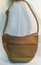 STONE MOUNTAIN Genuine Leather Tan Shoulder Purse/Bag