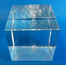Clear Studio Blown Glass Modernist Modern Paperweight Decorative Office