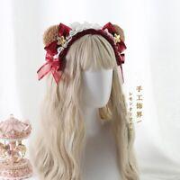 Japanese Bow Hair Accessories Hair Band Sweet Lolita Kawaii cute Moe Ear Headban