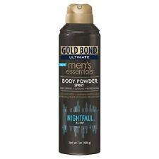 Gold Bond Ultimate Men's Essentials Body Powder Spray Nightfall Scent