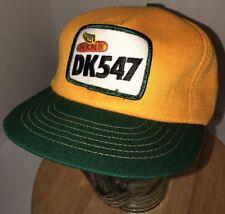 Vintage DEKALB DK547 80s USA Swingster Green Yellow Trucker Hat Cap Snapback WOW