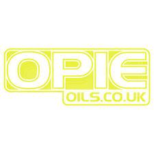Opie aceites Decal Set - 2 X Amarillo 6 Pulgadas Pegatinas