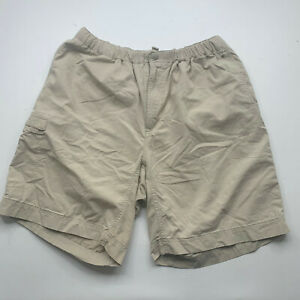 Columbia Shorts Tan Size Large  Elastic Waste Outdoor Hiking Fishing Men 3000