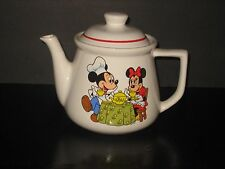 DISNEY TEAPOT MICKEY & MINI MOUSE TREASURE CRAFT MADE IN U S A