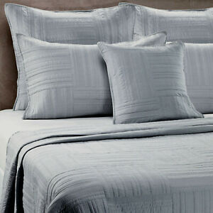 Barbara Barry Eternity Quilted Slate Gray Decorative Queen Sham NWT
