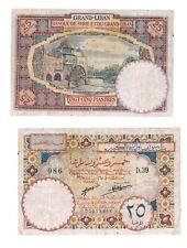 - Paper Reproduction -  Lebanon 25 piastre 1925             289