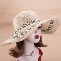 Womens Dressy Wide Brim Beach Foldable Sun Church Tea Party Starw Hat X825
