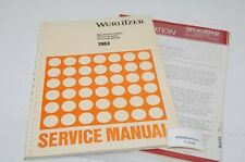 Wurlitzer Service Manual Jukebox