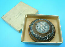 More details for united states 1910 fireman's fund shreve & co silver & wood paperweight