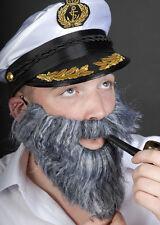 Grey Bushy Fancy Dress Fake Beard