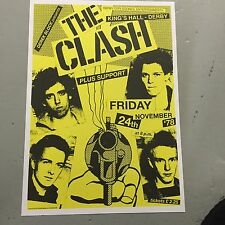 THE CLASH - U.K. CONCERT POSTER KINGS HALL DERBY 24th NOVEMBER 1978 (A3 SIZE)