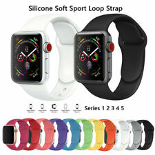Apple Watch iWatch Series 5 4 3 2 1 38/40/42/44mm Soft SILICONE Sport Strap
