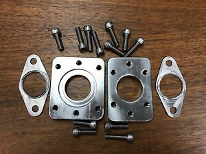 NEW PORSCHE 944 TURBO TIAL F38 WASTEGATE ADAPTER PLATE KIT WITH DRILLED HAR