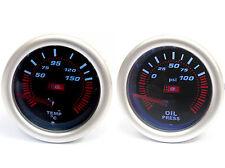 Universal 52mm Affumicato faccia pressione Olio & TEMP GAUGE fornito con 1 / 8NPT Sender