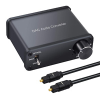 LiNKFOR 192kHz DAC Converter Digital Coaxial Toslink to Analog Stereo L/R RCA ON
